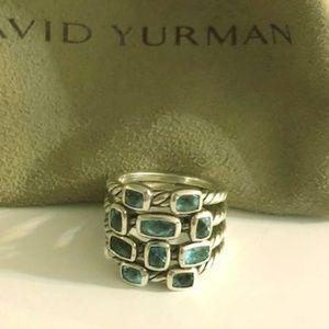 David Yurman Blue Topaz Confetti Ring